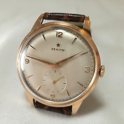 Zenith 18K Solid Rose Gold - 37mm WIthout Crown - Perfect Condition