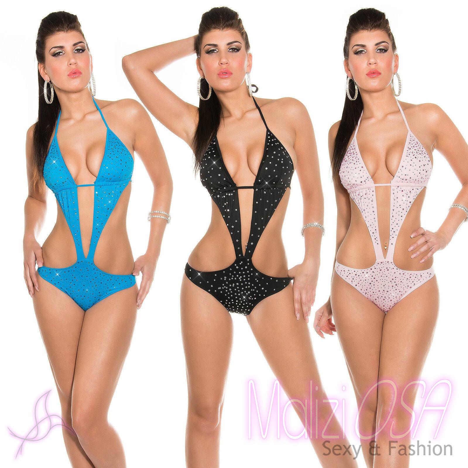 a88621532ecb Monokini Costume da bagno intero donna swimwear moda mare 2018 Strass  Trikini
