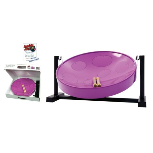 Jumbie Jam Steel Drum Kit – Table Top Stand - Purple Pan (G)
