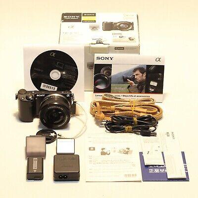 [Excellent!!]Sony NEX 5T 16.1MP Camera w/16-50mm OSS silver Lens kit/Full Box