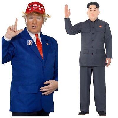 Donald Trump Kostüm,Kim Jong un Kostüm,Anzug,Verkleidung,Diktator,Nordkorea - Diktator Kostüm