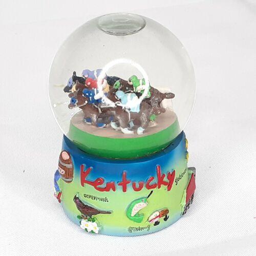 Kentucky State Symbols & Horse Derby Miniature Snow Globe
