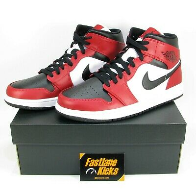 Nike Air Jordan 1 Chicago Mid Black Red White Size UK 7 8 9 9.5 10 10.5 11