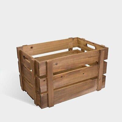 Premium Wooden Apple Crates Fruit Boxes Home Decor Rustic Vintage Display
