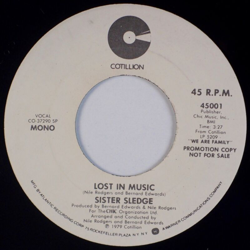 Details about SISTER SLEDGE: Lost in the Music US Cotillion Funk Soul Disco  Promo 45 MP3