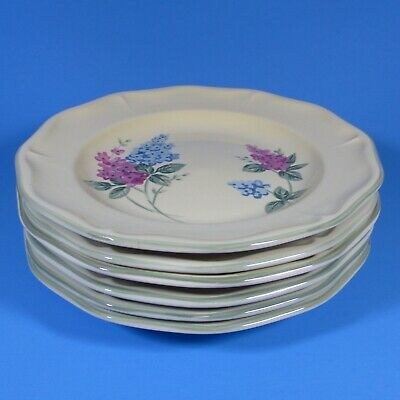 Fairfield Stoneware LILAC FIELDS Set of 6 Salad Plates Plate Lilac Salad Set