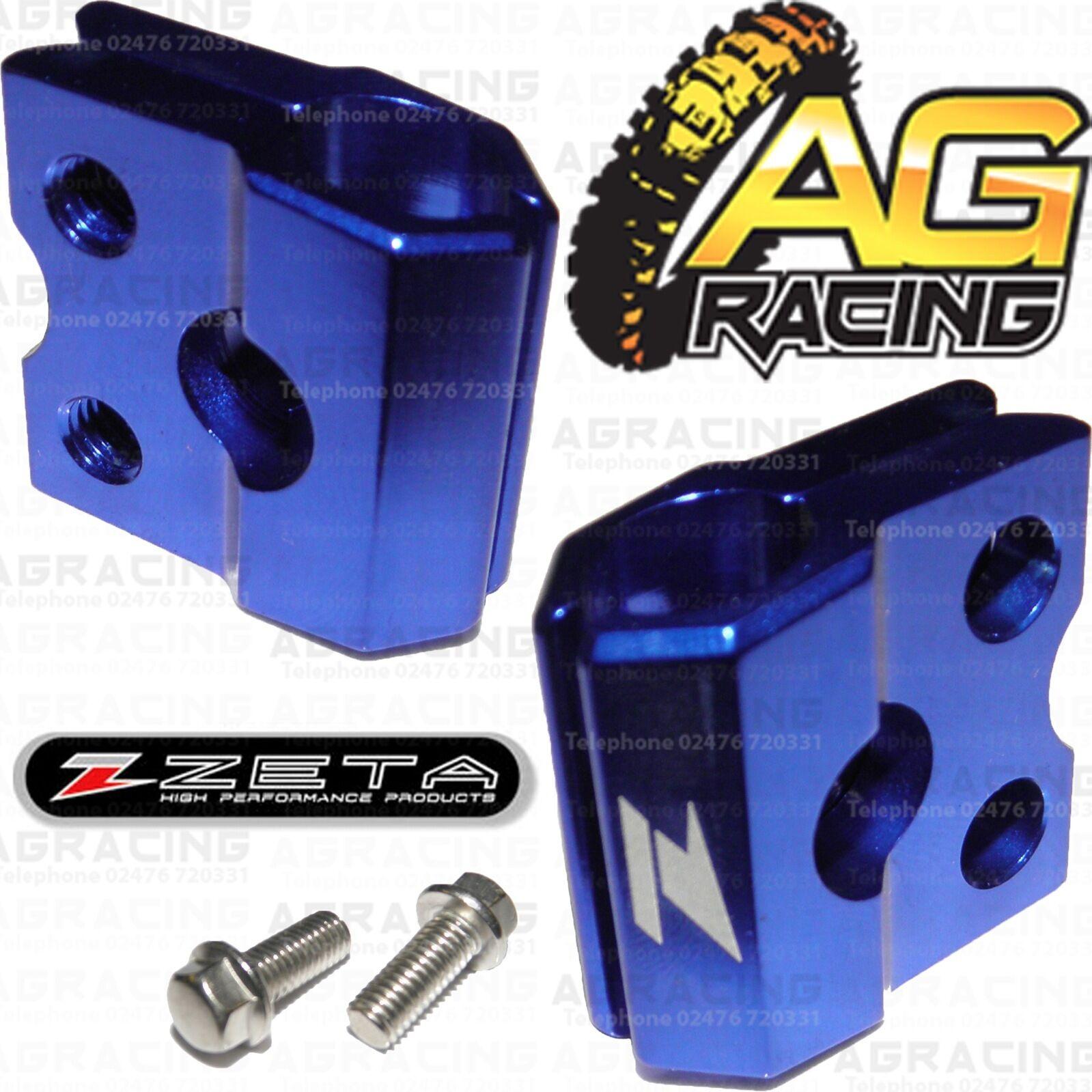 Apico Blue Brake Hose Brake Line Clamp For Yamaha YZF 450 2008 Motocross Enduro