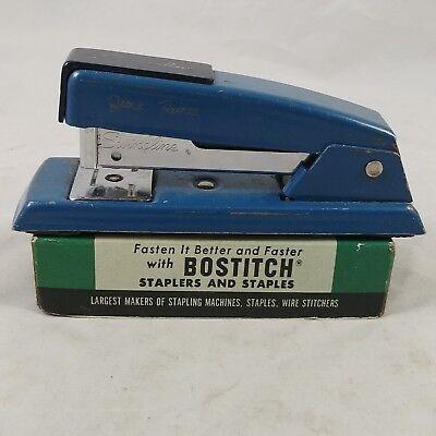 Vintage Swingline 711 Stapler Classic Blue Usa 80s 90s Engraved Wvtg Staples
