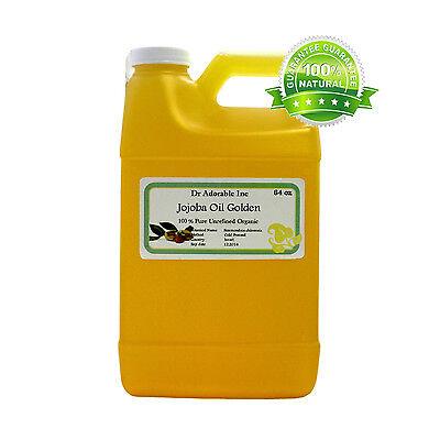 64 oz half gallon organic jojoba golden