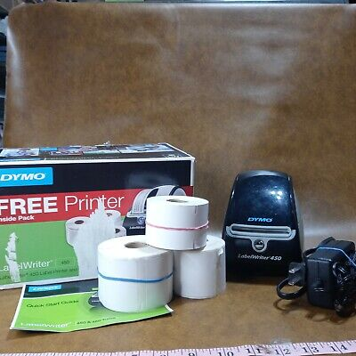 Dymo 450 Thermal Label Printer Professional For Pc And Mac Labels Power Cord Lot