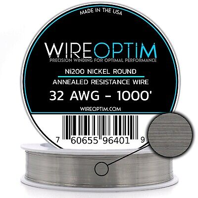 Wireoptim Annealed Ni200 Nickel 32 Gauge Awg 1000 Non Resistance Wire