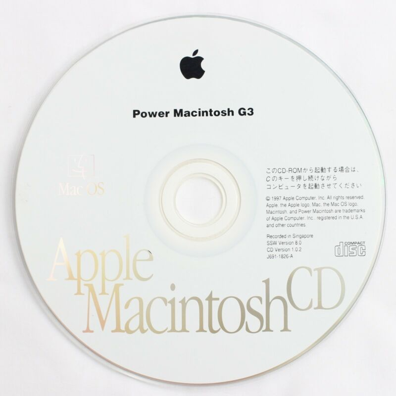 Details about Apple Mac OS 8 Japanese Installation Disc for Power Macintosh  G3 Beige Desktop