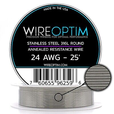 Ss 316l - 24 Awg Stainless Steel Wire 316l 0.51mm - 25