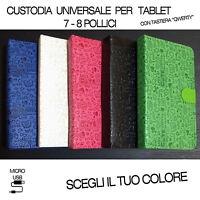 Cover Universale Con Tastiera Micro Usb Qwerty Per Tablet 7 O 8 Pollici Vodafone - vodafone - ebay.it