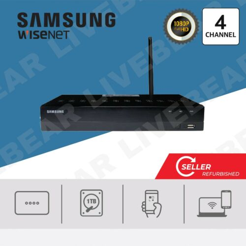 Samsung Wisenet SNR-73200WN 4 Channel 1080P HD 1TB Wireless NVR w/ accessories