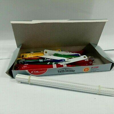 Paper Fastener 50pcs Set Box Document Paper File Colorful Plastic Binding Fasten