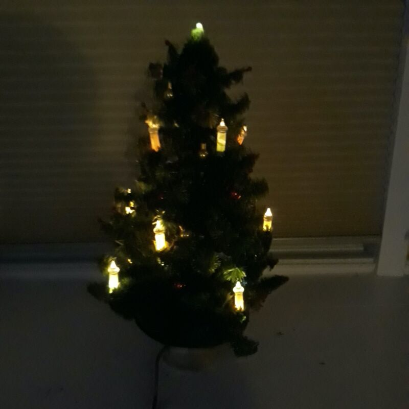 Antique Cellophane Christmas Tree with lights