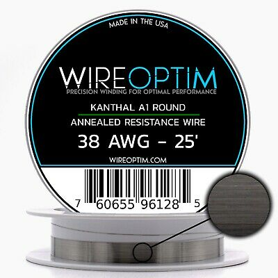 38 Gauge Awg Kanthal A1 Wire 25 Length - Ka1 Wire 38g Ga 0.10 Mm 25 Ft