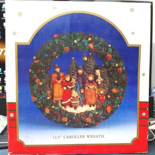 Vintage Kurt Adler 1993 Christmas 12.5 Inch Caroller Wreath  J4477 New in Box