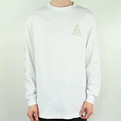 HUF Prestige Long Sleeve T-Shirt Tee in White Size M,L,XL