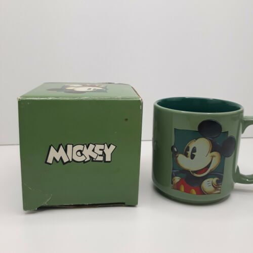 Mickey Mouse Green Coffee Tea One Mug Cup New in box The Disney Store