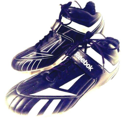 Reebok NFL Equipment Football Cleats 13.5 Pye Black PlayDry Kinetic Fit SAMPLE