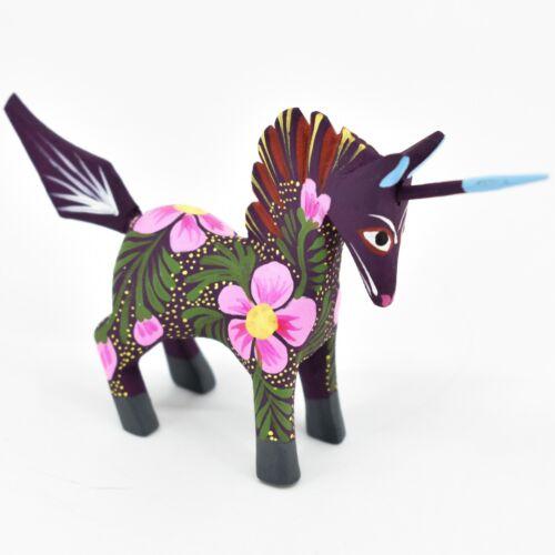 Handmade Alebrijes Oaxacan Copal Wood Carving Painted Folk Art Unicorn Figurine