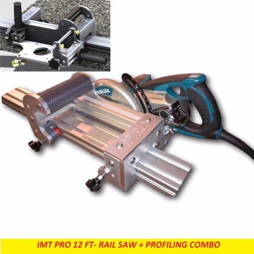 IMT PRO Wet Cutting Makita Motor Rail Saw + EDGE Profile for Granite -12 Ft Rail