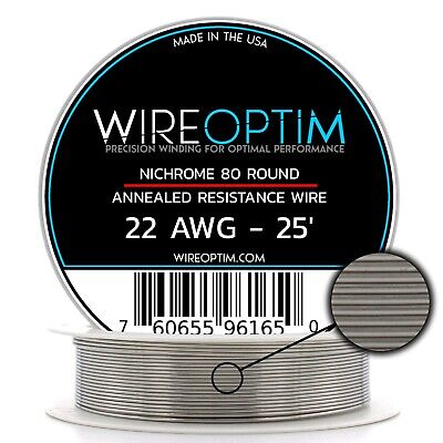 22 Gauge Awg Nichrome 80 Wire 25 Length - N80 Wire 22g Ga 0.64 Mm 25 Ft