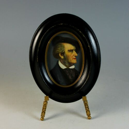 Antique Hand Painted Miniature Portrait of Wagner