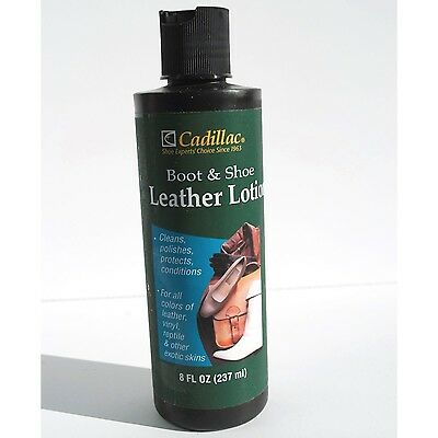 Cadillac Boot & Shoe Care Leather Conditioner Protector 8 oz  - Leather Conditioner Boots