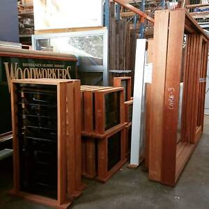 Woodworkers Xs- Brisbane- Timber framed Louvre windows