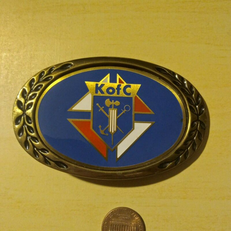 Knights of Columbus K of C Enameled Belt Buckle Never Worn