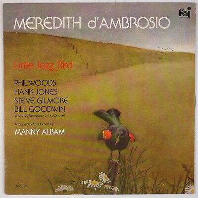MEREDITH d'AMBROSIO: Little Jazz Bird w/ Phil Woods, Hank Jones PAJ Jazz LP