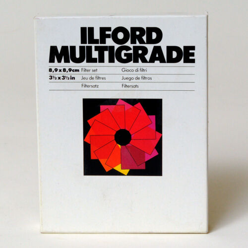 Ilford Multigrade Filter Set 3.5 x 3.5 inches, NEW in SEALED BOX - CAT 624 232