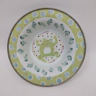 "MACKENZIE CHILDS Enamelware Childrens Frog 6 1/8"" Bowl"