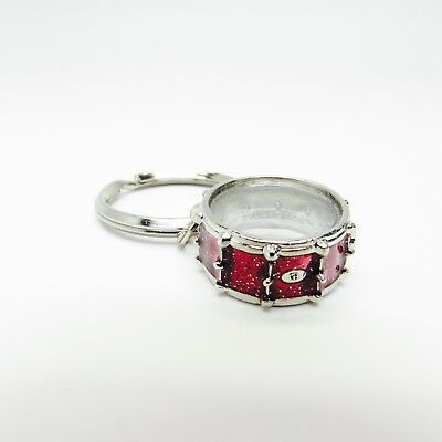 Nobel & Coole Snare Drum Sparkle Red Key Chain with Gift Box - NWT Percussion  (Nobel Metals)