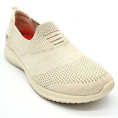 Skechers Womens Ultra Flex Harmonious Slip On Shoe US Size 7M Natural New