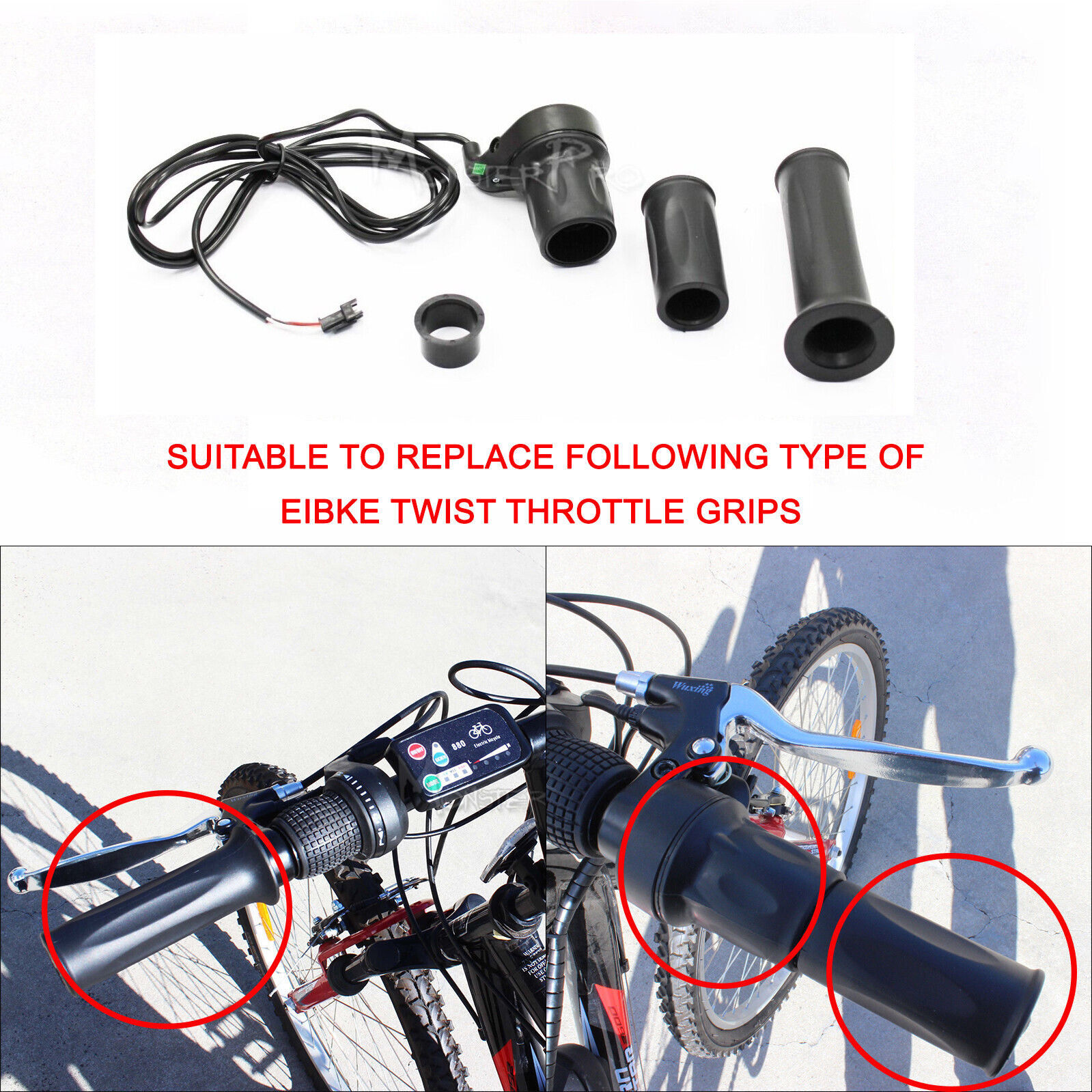 36//48//60V E-Bike Thumb Throttle Conversion Part for Electric Scooter Bicycle