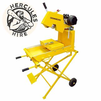 Hercules Hire - Crommelins Electric wet Bricksaw & Blocksaw