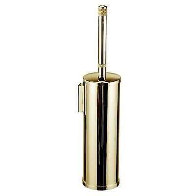 Cecilia wall toilet brush holder.Polished Gold /Gold Swarovski® crystals inlaid