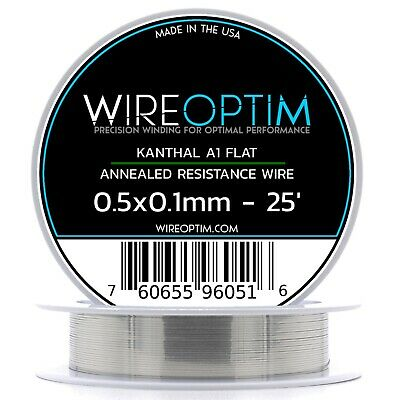 0.5 X 0.1 Mm Kanthal A1 Ribbon Flat Resistance Wire 25 - 25 Ft