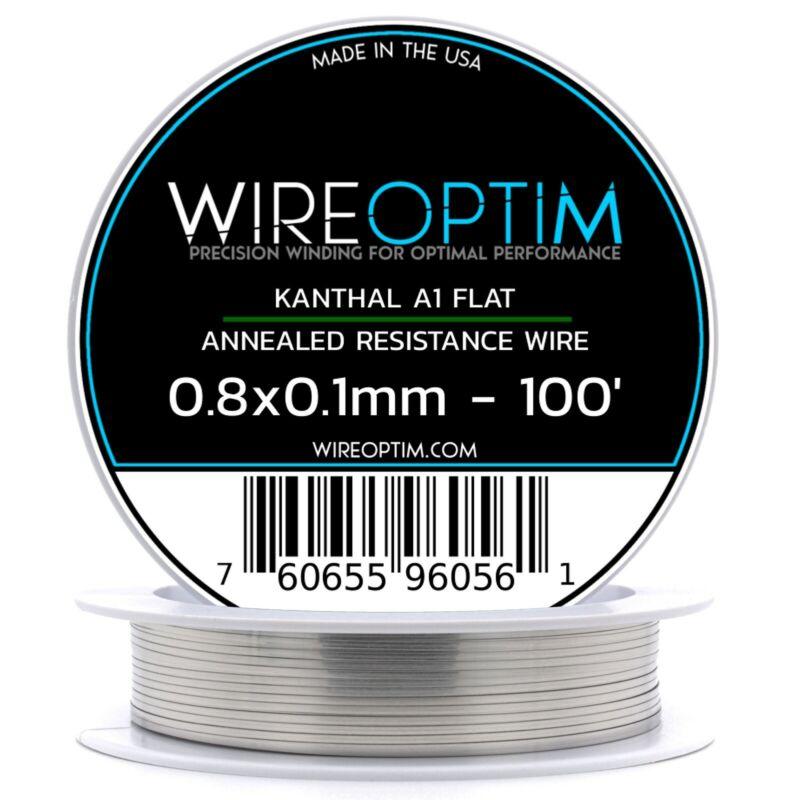 0.8 x 0.1 mm Kanthal A1 Ribbon Flat Resistance Wire 100