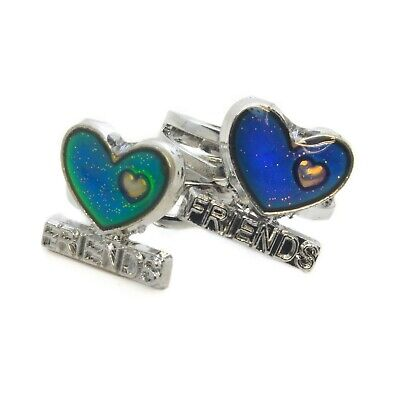 2 Best Friend Colour Changing Mood Rings & 2 Free Mood Charts - Adjustable