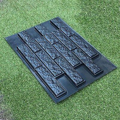 Concrete Tile Molds (Mold RAGGY BRICK VENEER for Concrete Cement Plaster Wall Brick Tiles DYI )