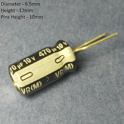 15100700 Of 470uf 10v Radial Nichicon Electrolytic Capacitor Bagged
