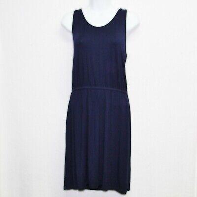 Gap womens t back dress size S navy blue stretch jersey dress cinched drop (Cinched Waist Jersey Dress)
