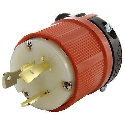 NEMA L7-20P 20 Amp 277 Volt Locking Plug Assembly by AC WORKS® Locking Plug 20 Amp