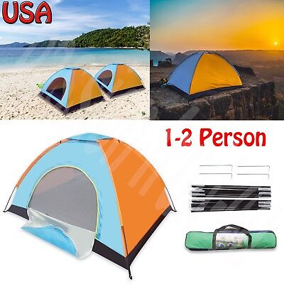 Sundome 2-Person Dome Tent Automatic Pop Up Instant Tent 4 Season Camping Fast
