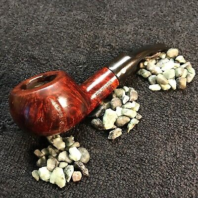 Large Tom - RESTORED nice large Tom Howard Squat Rustified Tomato vintage pipe w/ stinger